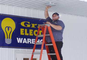 Light fixture repair by Gray Electric of Mauston and Tomah, WI